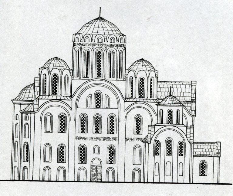Северный фасад Успенского собора Киево-Печерской лавры