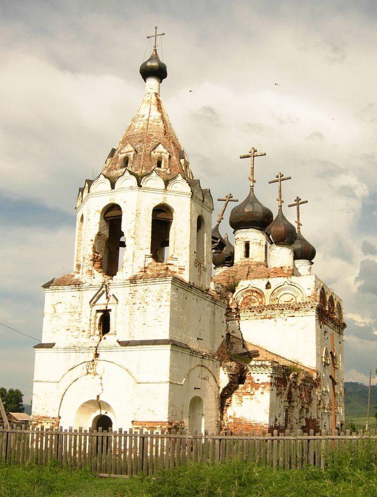 Собор Нерчинского Успенского монастыря, вид с юго-запада. 1706–1712