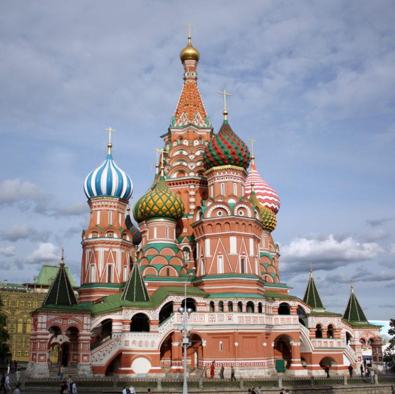 Собор Покрова на Рву (Василия Блаженного). Вид с запада. 1555–1561