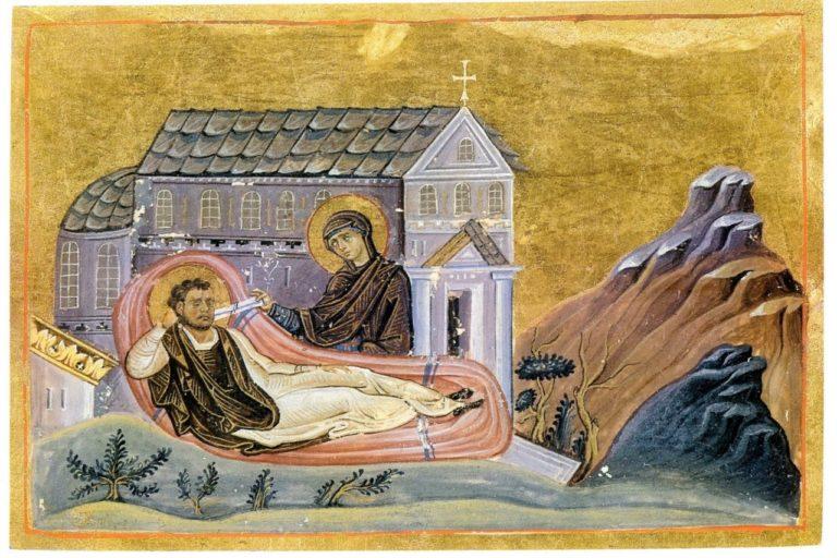 Явление Богородицы св. Роману Сладкопевцу. Ок. 985 г.