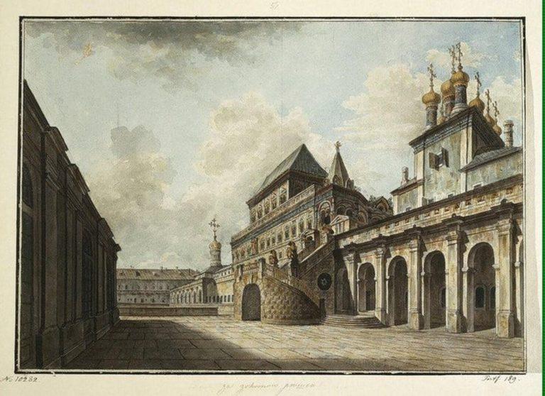 Теремной дворец в Московском Кремле. Нижний ярус: 1499–1509