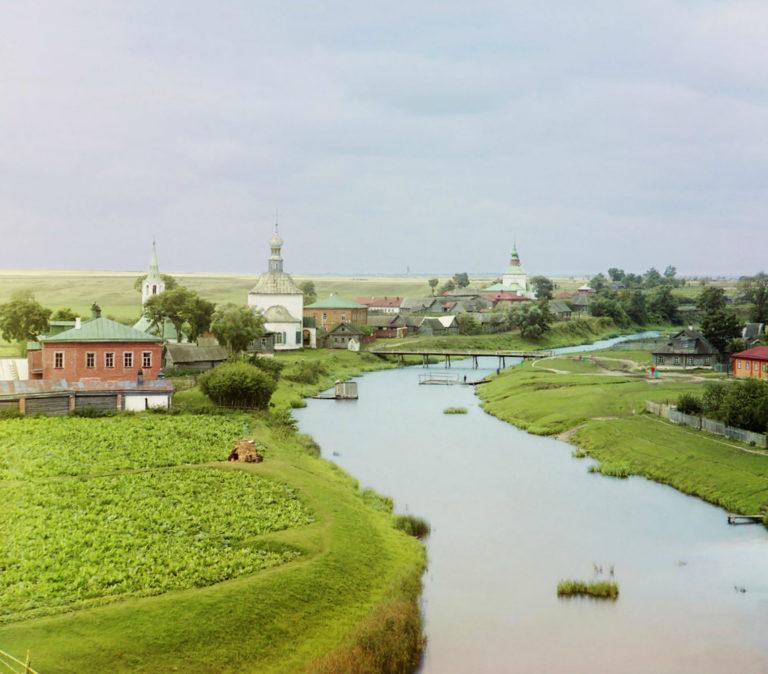 Вид на Суздаль с реки Каменки. 1912
