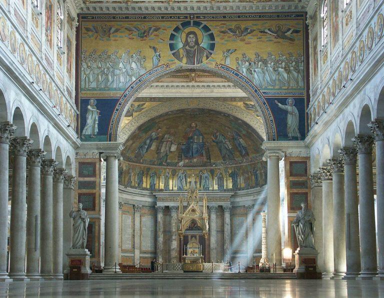 Вид на апсиду базилики Сан Паоло фуори ле Мура, Рим