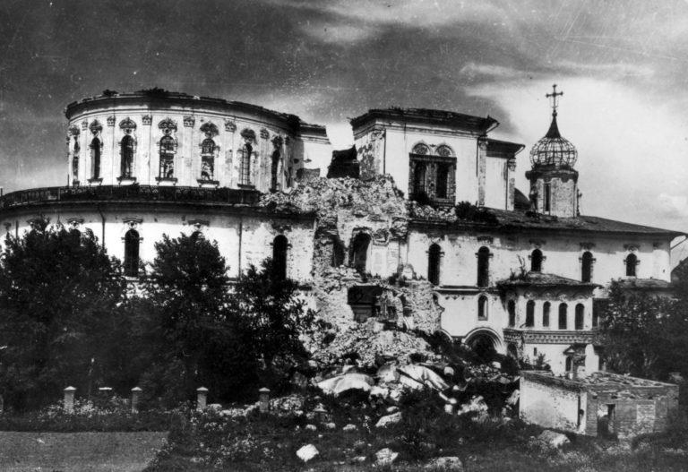 Воскресенский собор Новоиерусалимского монастыря после войны. 1940–1950-е
