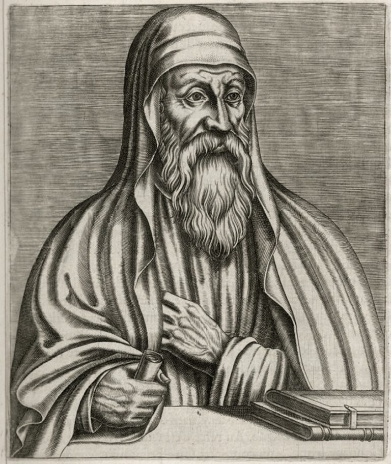 Вымышленный портрет Оригена. Кон. XVI в.