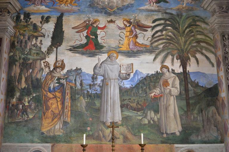 Апофеоз св. Бернардина Сиенского. 1484–1486
