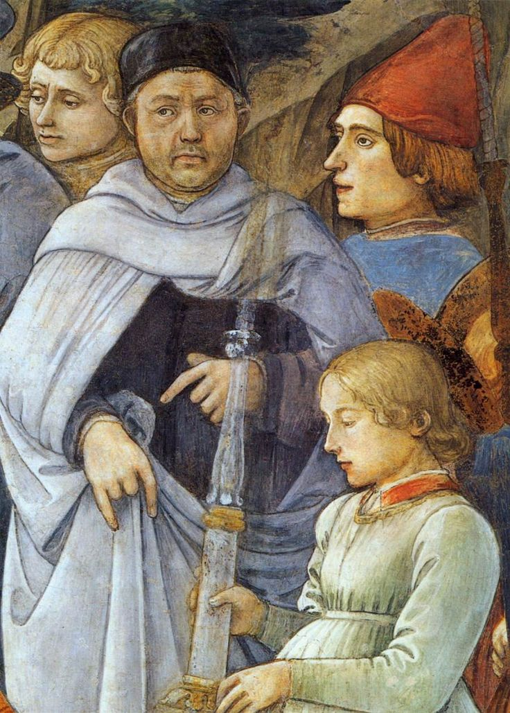 Автопортрет (в центре). Фрагмент фрески «Успение Богородицы». 1467–1469
