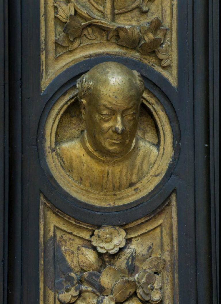 Автопортрет. Фрагмент «Райских врат». 1403–1424