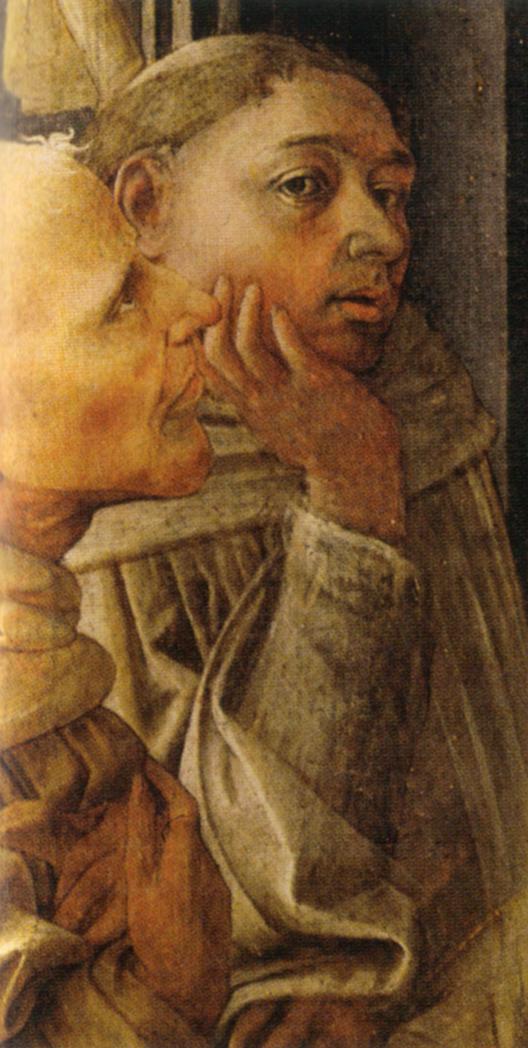 Автопортрет. Фрагмент алтаря «Коронование Марии». 1439–1447