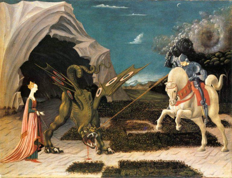 Битва святого Георгия с драконом. Ок. 1456