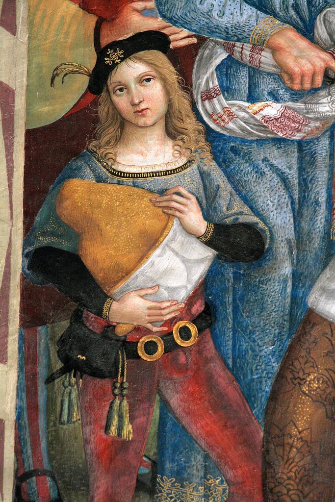 Фрагмент фрески «Папа Пий II прибывает в Анкону». 1502–1507