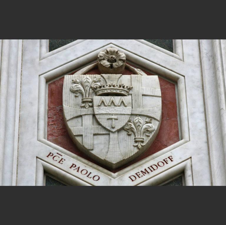 Герб Демидовых. Фасад собора Санта Мария дель Фьоре