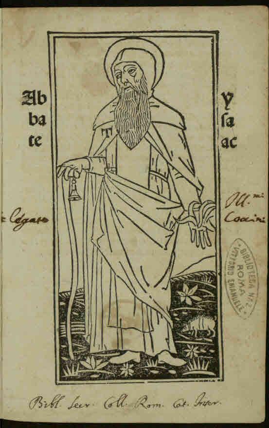 Isaac de Syria. De perfectione vitae theoreticae. Venezia, 1500