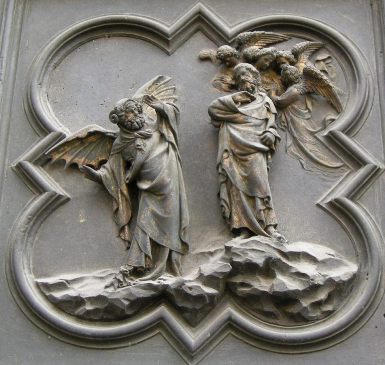 Искушение Христа. Фрагмент Северных врат. 1403–1424