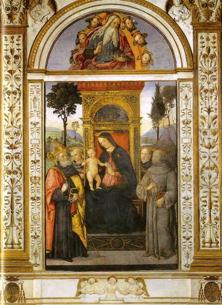 Мадонна на троне в окружении святых. 1484–1492