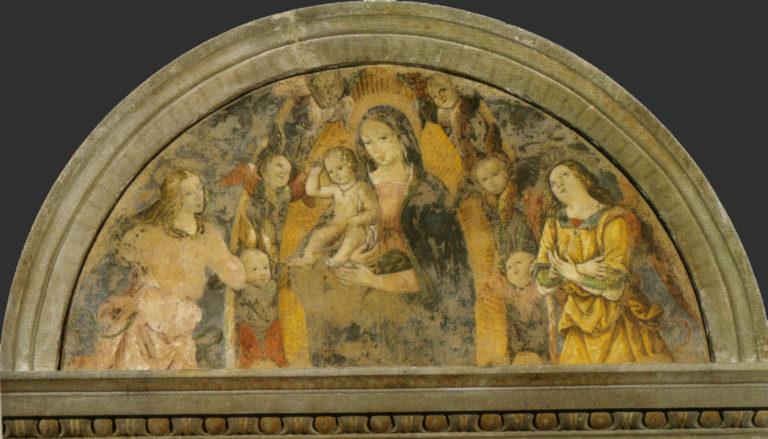 Мадонна с Младенцем и ангелами. 1488–1490