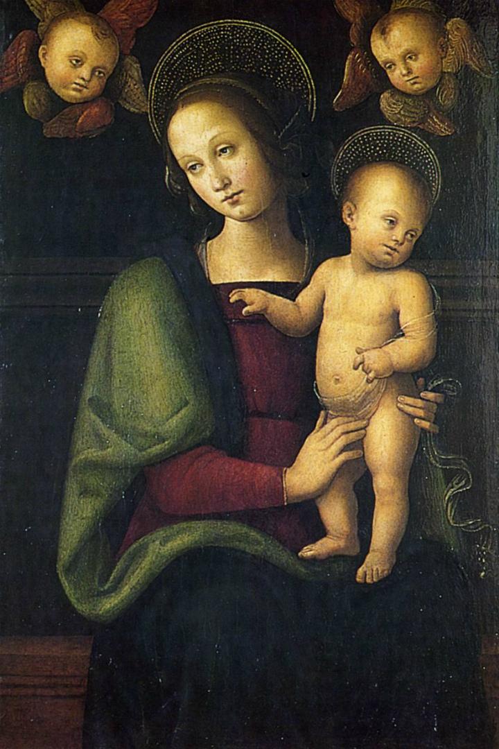 Мадонна с Младенцем и двумя херувимами. 1495