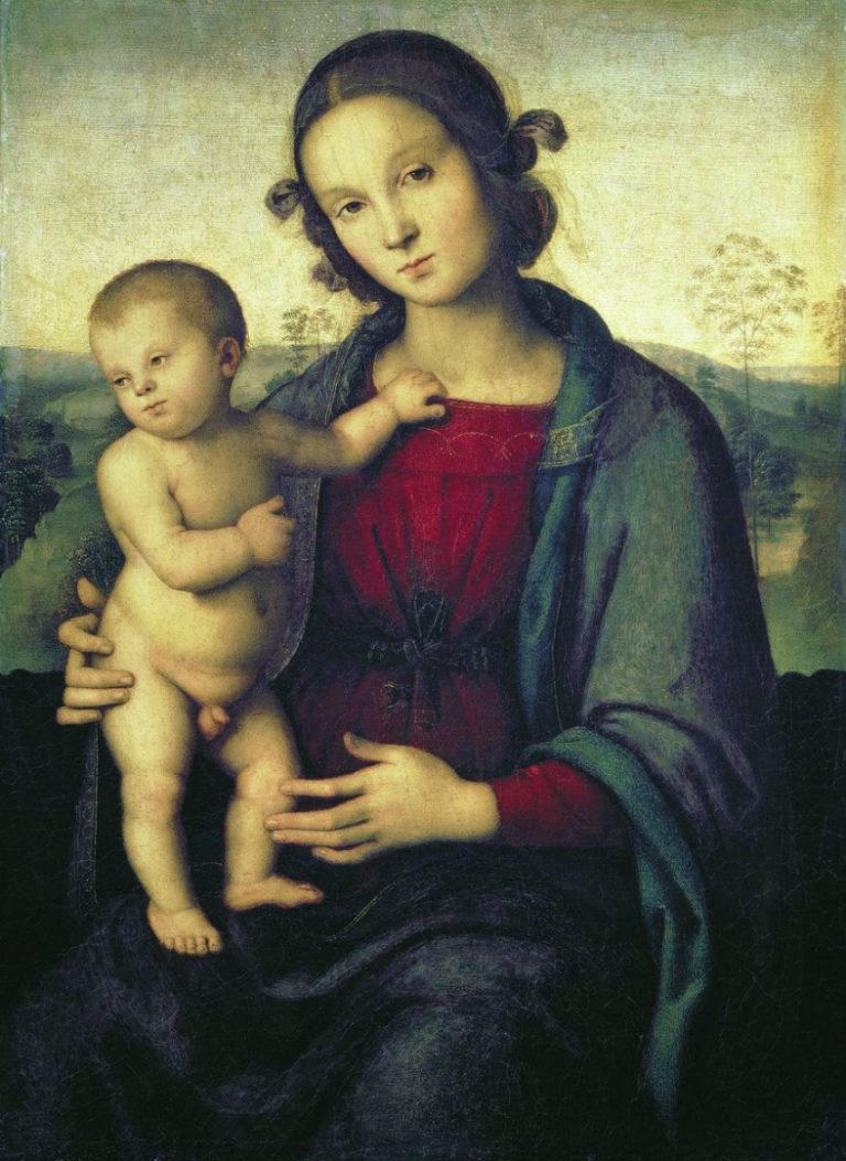 Мадонна с Младенцем. Кон. XV в.