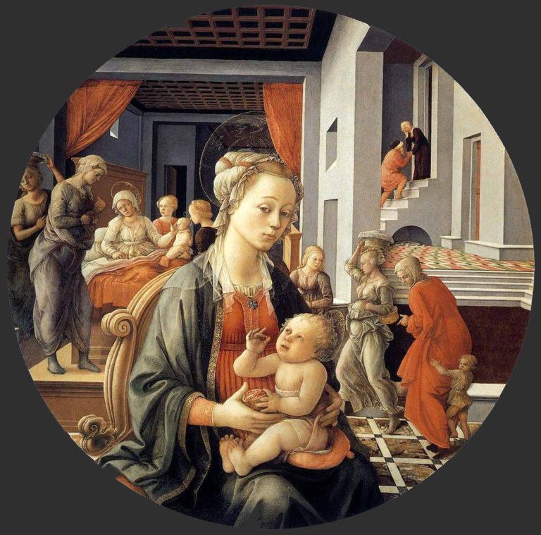 Мадонна с младенцем и сцены из жизни святой Анны. Ок. 1452
