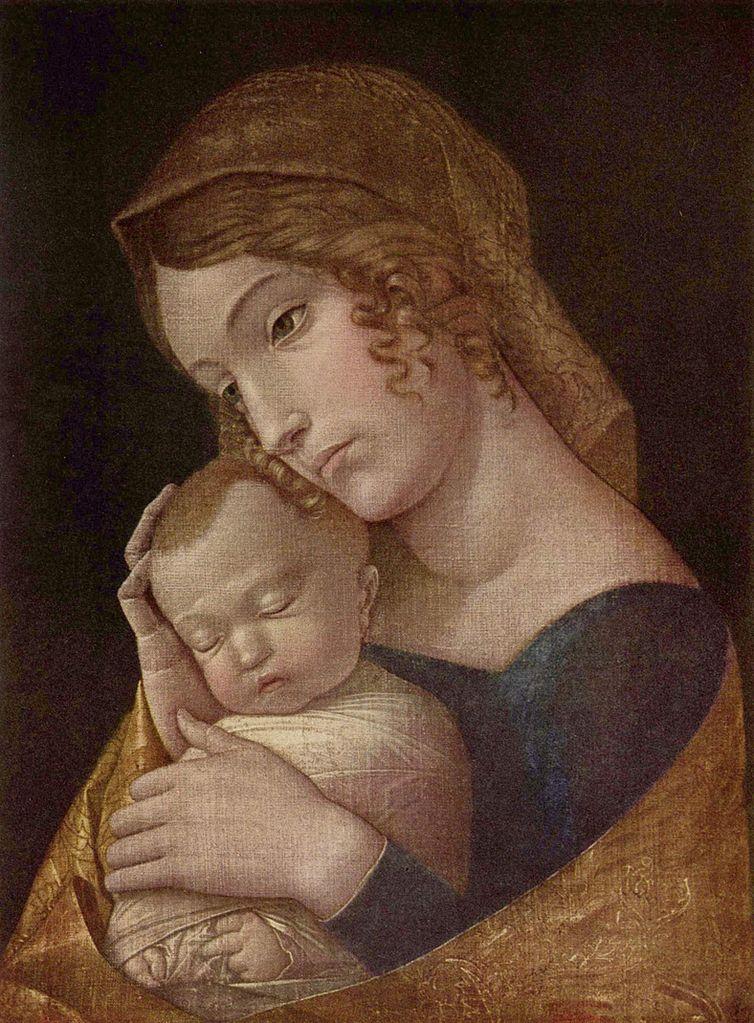Мадонна со спящим Младенцем. 1465–1470