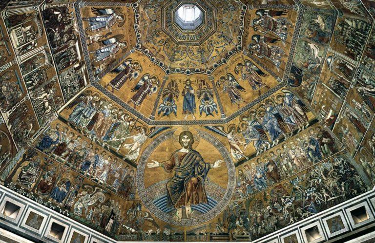 Мозаики на своде купола баптистерия Сан-Джованни. XIII–XIV вв.