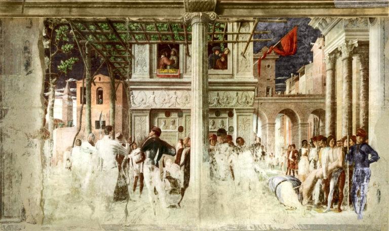 Мученичество и перенесение тела св. Христофора. 1454–1457