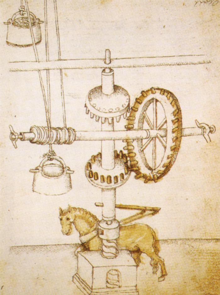Общий вид крана Брунеллески. I пол. XV в.
