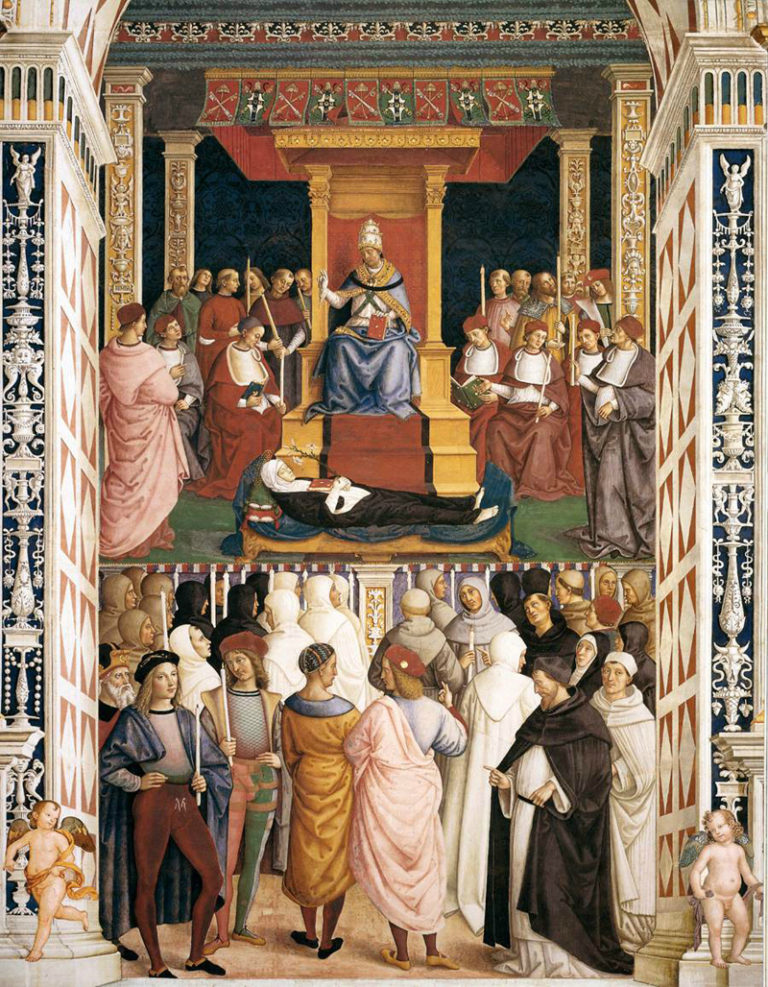 Папа Пий II канонизирует Екатерину Сиенскую. 1502–1507