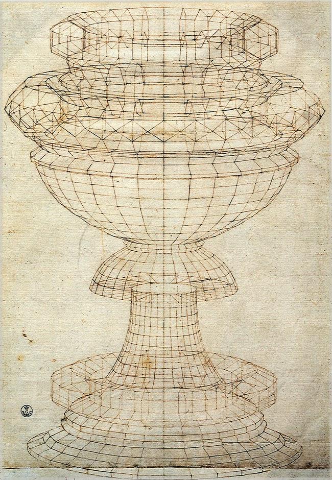 Перспективный рисунок вазы. 1430-е