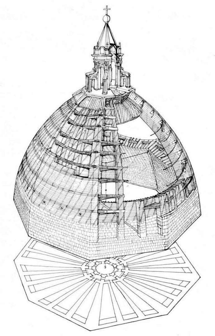 План купола собора Санта Мария дель Фьоре