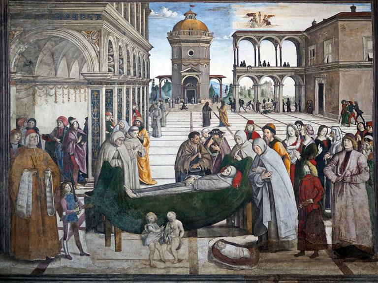 Похороны св. Бернардина. 1484–1486