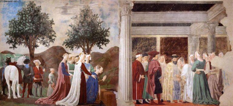 Поклонение Кресту и встреча Соломона с царицей Савской. 1452–1466