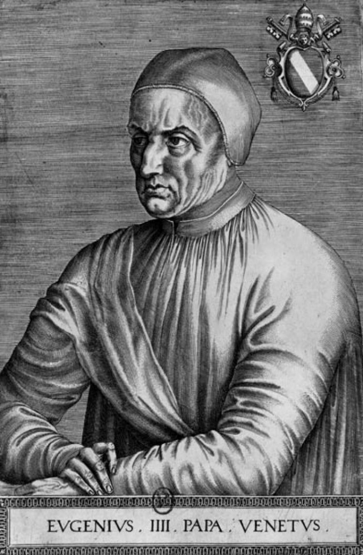 Портрет папы Евгения IV. XV в.