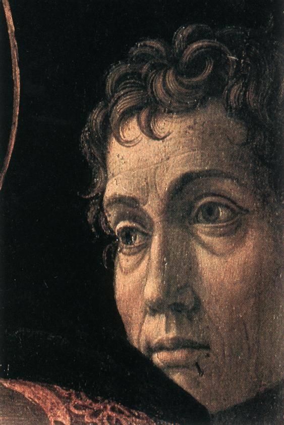 Предполагаемый автопортрет. Фрагмент картины «Принесение во храм». 1465–1466