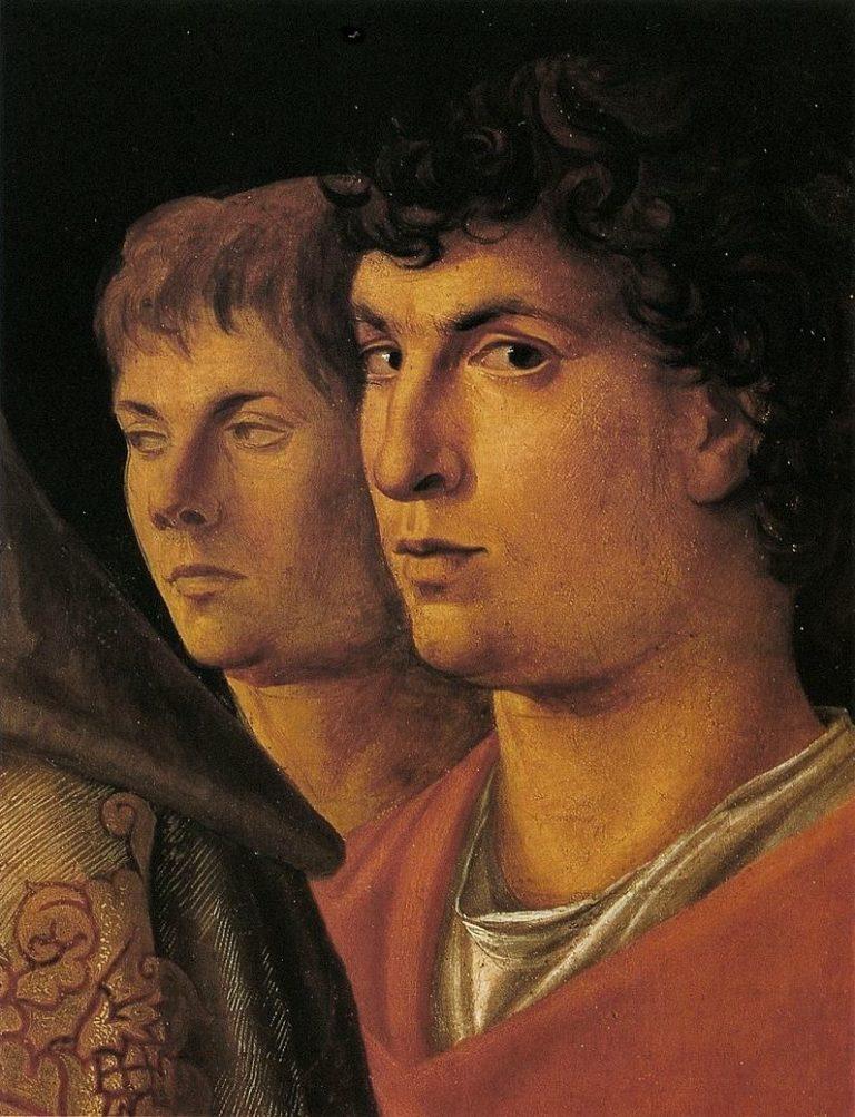 Предполагаемый автопортрет. Фрагмент картины «Принесение во храм». Ок. 1460
