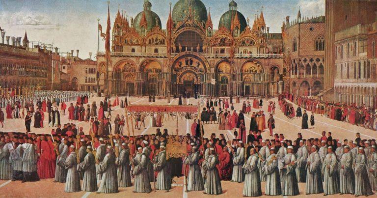 Процессия на площади Сан-Марко. 1496