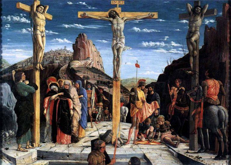 Распятие. Пределла Алтаря Сан-Дзено. 1457–1460