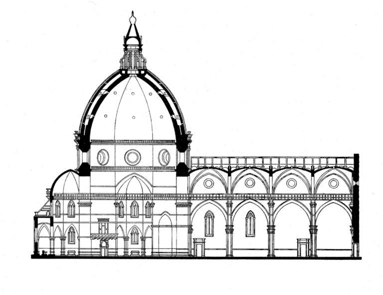 Разрез собора Санта Мария дель Фьоре