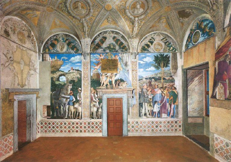 Роспись западной стены Камеры дельи Спози. 1465–1474