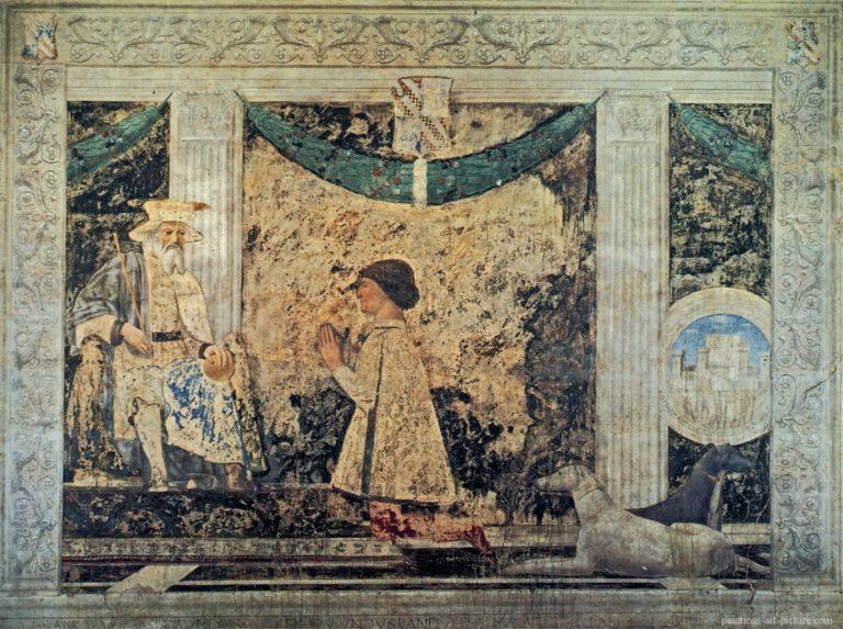 Сиджизмондо Малатеста перед святым Сигизмундом. 1451