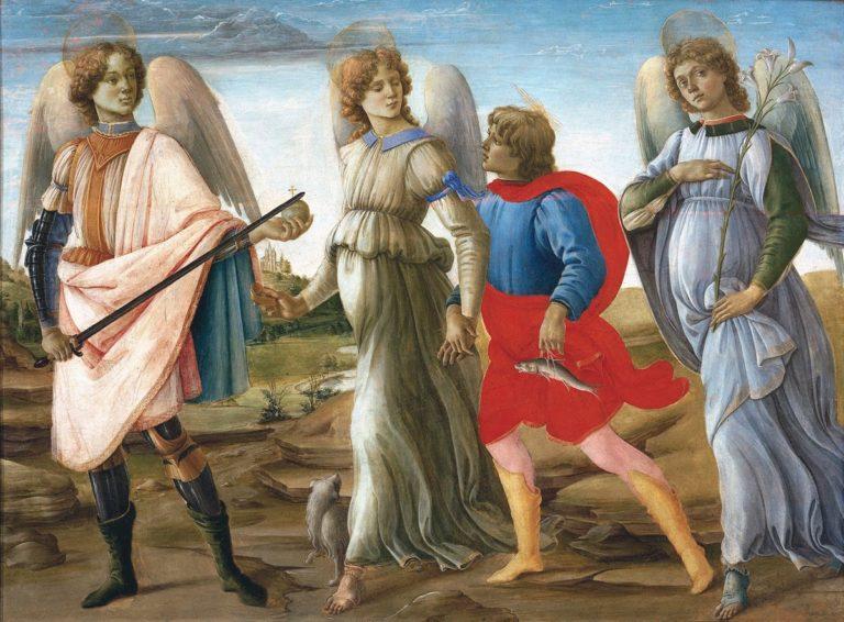 Три архангела и Товия. Ок. 1485
