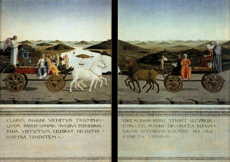 Триумф Федерико да Монтефельтро и Баттисты Сфорца. 1465–1472