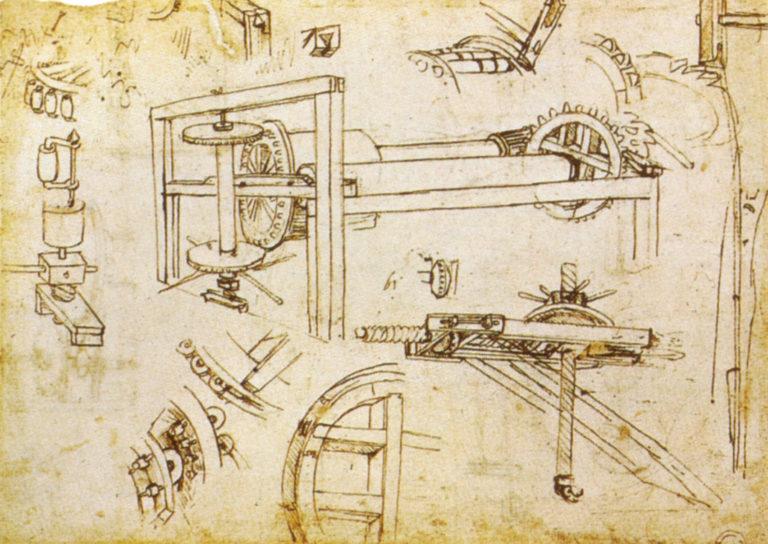 Трёхскоростная лебёдка Брунеллески. Ок. 1480