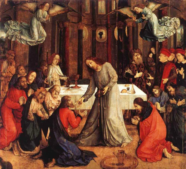 Установление Евхаристии. Центральная часть алтаря Корпуса Домини. 1472–1474