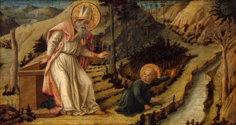 Видение блаженного Августина. Ок. 1460