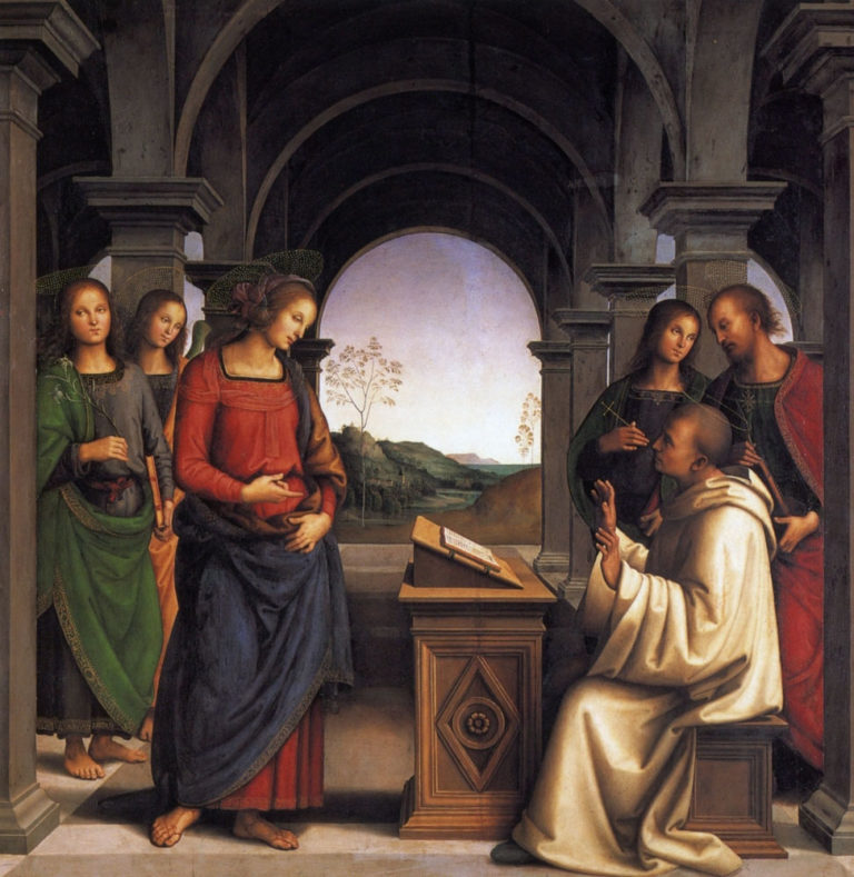 Видение святого Бернарда Клервоского. 1493–1494