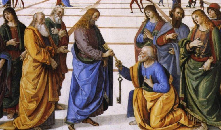 Вручение ключей св. Петру. Фрагмент. Ок. 1482
