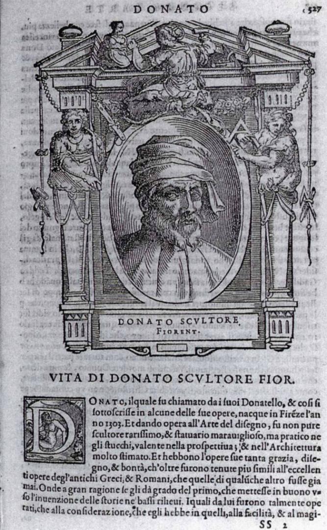 Вымышленный портрет Донателло. 1767