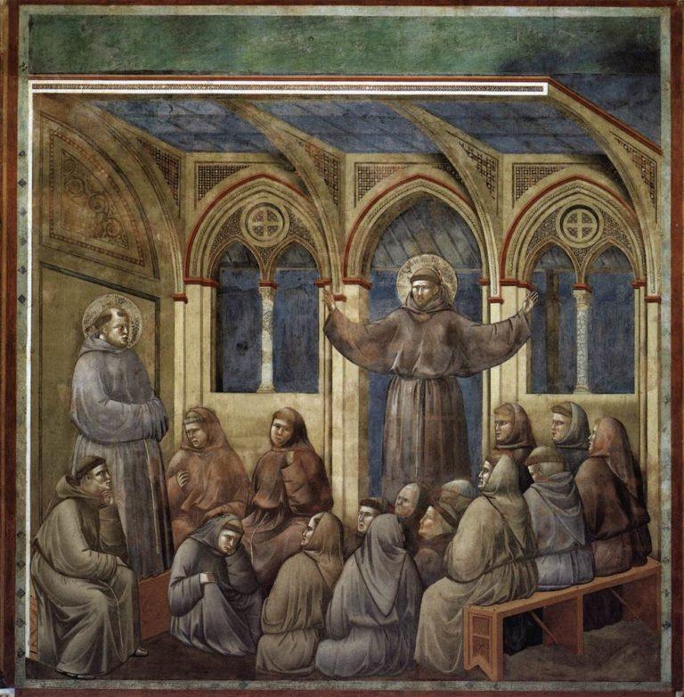 Явление Святого Франциска во время проповеди Антония Падуанского в Арле. Ок. 1296–1304