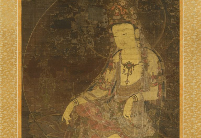 Авалокитешвара под луной. Фрагмент. Корейская школа, XIV в.